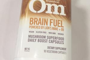 Brain Fuel Mushroom Superfood Daily Boost Capsules Dietary Supplement