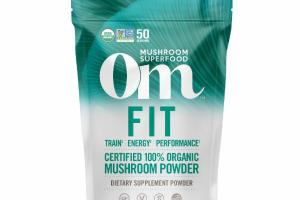 FIT CERTIFIED 100% ORGANIC MUSHROOM DIETARY SUPPLEMENT POWDER