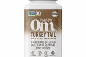 TURKEY TAIL MUSHROOM SUPERFOOD DAILY BOOST DIETARY SUPPLEMENT VEGETARIAN CAPSULES