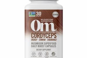 CORDYCEPS MUSHROOM SUPERFOOD DAILY BOOST VEGETARIAN CAPSULES DIETARY SUPPLEMENT