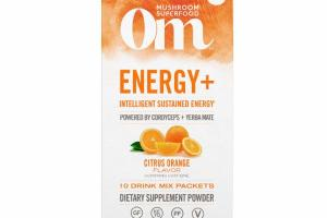INTELLIGENT SUSTAINED ENERGY POWERED BY CORDYCEPS + YERBA MATE DRINK MIX DIETARY SUPPLEMENT POWDER, CITRUS ORANGE FLAVOR