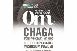 CHAGA SACRED ANTIOXIDANTS ANTI-AGING 100% ORGANIC MUSHROOM DIETARY SUPPLEMENT POWDER