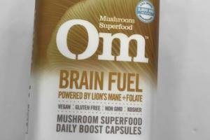 BRAIN FUEL POWERED BY LION'S MANE + FOLATE MUSHROOM SUPERFOOD DAILY BOOST CAPSULES DIETARY SUPPLEMENT VEGETARIAN CAPSULES