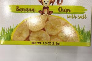 Banana Chips With Salt
