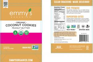Peanut Butter Organic Coconut Cookies