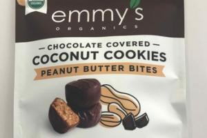 PEANUT BUTTER BITES CHOCOLATE COVERED COCONUT COOKIES