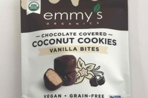 VANILLA BITES CHOCOLATE COVERED COCONUT COOKIES