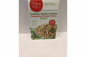 CREAMY GARLIC & HERB COMPLETE PROTEIN PASTA ROTINI