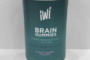 BRAIN GUMMIES DIETARY SUPPLEMENT VEGAN GUMMIES, MIXED BERRY