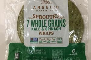 Sprouted 7 Whole Grains Kale & Spinach Wraps