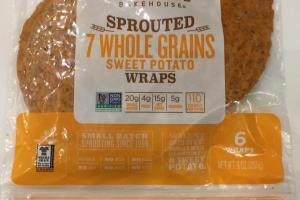 Sprouted Whole Grains Sweet Potato Wraps