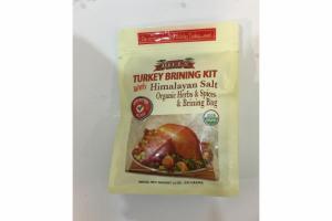 TURKEY BRINING KIT WITH HIMALAYAN SALT ORGANIC HERBS & SPICES & BRINING BAG
