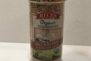 BILL'S BLEND 11 HERBS AND SPICES ORGANIC SEASONING