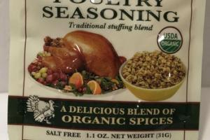 ORGANIC TRADITIONAL STUFFING BLEND POULTRY SEASONING