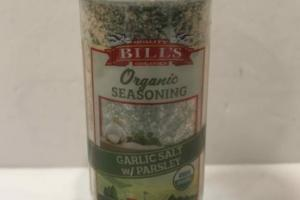 ORGANIC GARLIC SALT W/ PARSLEY SEASONING