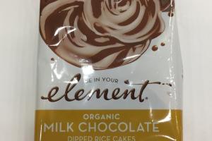 Organic Milk Chocolate Dipped Rice Cakes