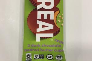 2 Dark Chocolate Peanut Butter Cups