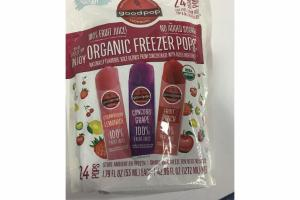STRAWBERRY LEMONADE, CONCORD GRAPE, FRUIT PUNCH 100% FRUIT JUICE ORGANIC FREEZER POPS