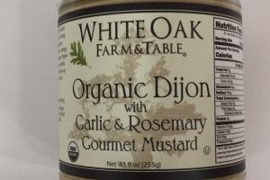 Organic Dijon With Garlic & Rosemary Gourmet Mustard