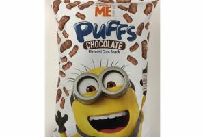 CHOCOLATE FLAVORED CORN SNACK PUFFS