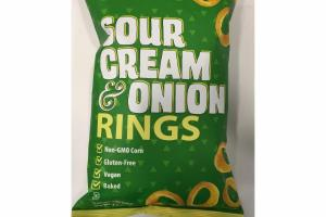 FLAVORED CORN SNACKS SOUR CREAM & ONION RINGS