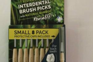 ECO-AWESOME INTERDENTAL BRUSH PICKS WITH NATURAL BAMBOO