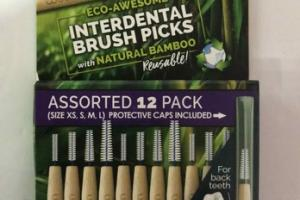 INTERDENTAL BRUSH PICKS WITH NATURAL BAMBOO