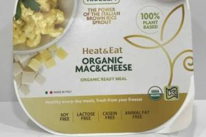 ORGANIC MAC&CHEESE THE POWER OF THE ITALIAN BROWN RICE SPROUT