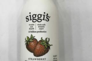 STRAWBERRY SWEDISH STYLE WHOLE-MILK DRINKABLE YOGURT
