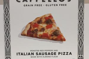 Roasted Red Peppers And Italian Sausage Pizza