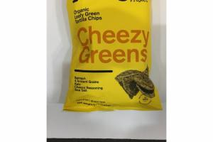 CHEEZY GREENS ORGANIC LEAFY GREEN TORTILLA CHIPS