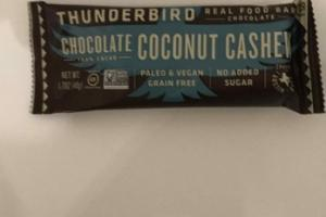 100% CACAO CHOCOLATE COCONUT CASHEW REAL FOOD BAR
