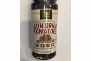 ORGANIC JULIENNE CUT CALIFORNIA SUN DRIED TOMATOES