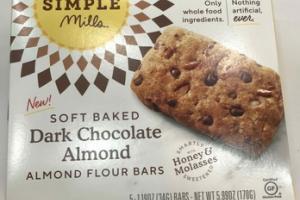 SOFT BAKED DARK CHOCOLATE ALMOND FLOUR BARS