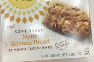 SOFT BAKED NUTTY BANANA BREAD ALMOND FLOUR BARS
