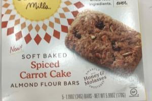 SOFT BAKED SPICED CARROT CAKE ALMOND FLOUR BARS