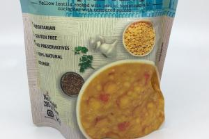 Organic Yellow Lentils With Chickpeas Curry