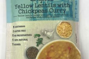 ORGANIC MEDIUM YELLOW LENTILS WITH CHICKPEAS CURRY