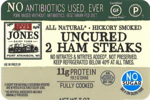 Uncured 2 Ham Steaks