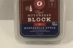 BLOCK MOZZARELLA STYLE AGED NUTCHEESE