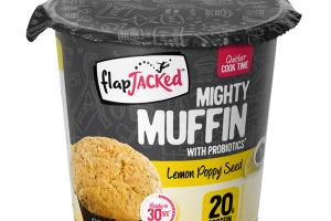 LEMON POPPY SEED MIGHTY MUFFIN WITH PROBIOTICS