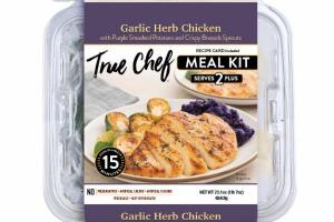 GARLIC HERB CHICKEN WITH PURPLE SMASHED POTATOES AND CRISPY BRUSSELS SPROUTS MEAL KIT