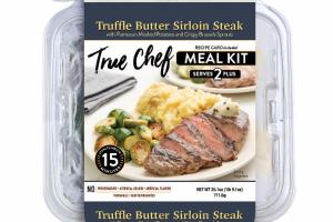 TRUFFLE BUTTER SIRLOIN STEAK WITH PARMESAN MASHED POTATOES AND CRISPY BRUSSELS SPROUTS MEAL KIT
