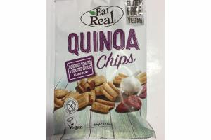 SUNDRIED TOMATO & ROASTED GARLIC QUINOA CHIPS