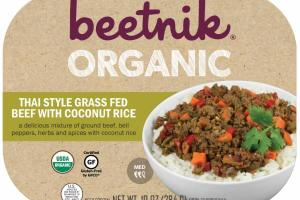 ORGANIC THAI STYLE GRASS FED BEEF WITH COCONUT RICE