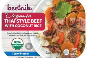 MED, THAI STYLE BEEF WITH COCONUT RICE