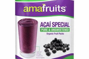 ACAI SPECIAL PURE & UNSWEETENED ORGANIC FRUIT PACKS