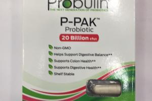 P-pak Probiotic 20 Billion Cfu Dietary Supplement
