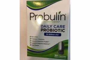 DAILY CARE PROBIOTIC DIETARY SUPPLEMENT CAPSULES