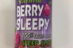 100% Fruit-based Sleep Shot Dietary Supplement